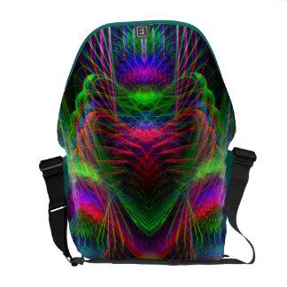 Psychedelic  Fractal Love Hearts Rickshaw Messenge Messenger Bag