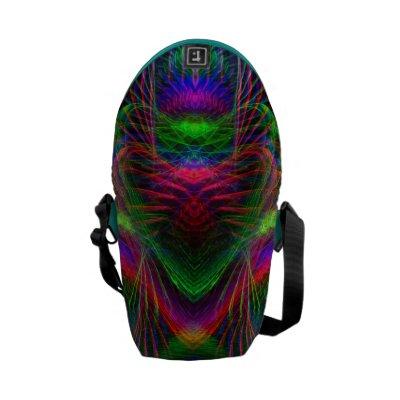Psychedelic Fractal Love Rickshaw Mini Zero Commuter Bags