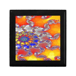 Psychedelic Fractal Swirl Design in Brilliant colo Jewelry Box