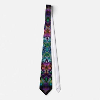 Psychedelic Fractal Templia Tie tie