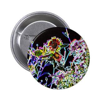 Psychedelic Garden Pinback Button