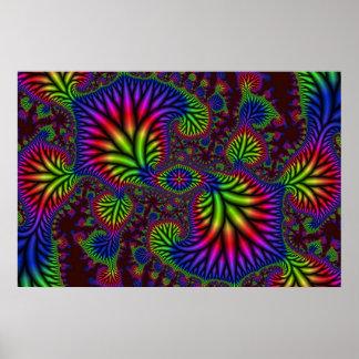 Psychedelic Garden Poster