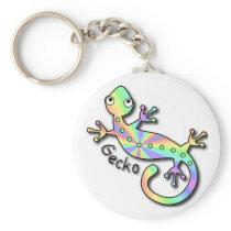 Psychedelic Gecko keychain