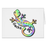 Psychedelic Gecko notecards Cards