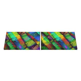 Psychedelic geometric pattern canvas prints