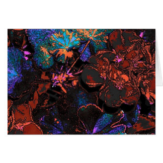 Psychedelic Geraniums Greeting Cards