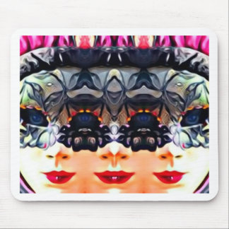 Psychedelic Girl Mouse Pad