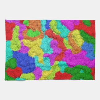Psychedelic Glitter Pattern Kitchen Towel