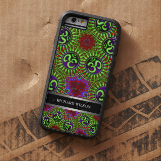 Psychedelic GOA OM Pattern Custom Name iPhone 6 Tough Xtreme iPhone 6 Case