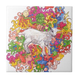 Psychedelic Goat Tile