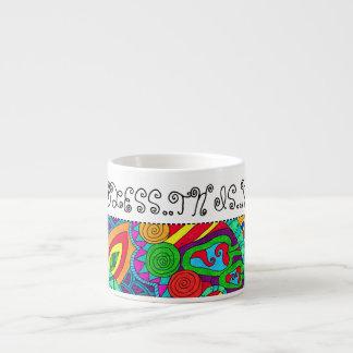 Psychedelic God Bless Espresso Coffee Mug Espresso Mug