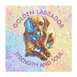 Psychedelic Golden Labrador Retriever Design Canvas Print