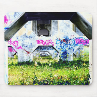 psychedelic graffitis on bridge mouse pad