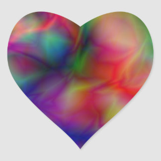 Psychedelic Graphic Heart Sticker