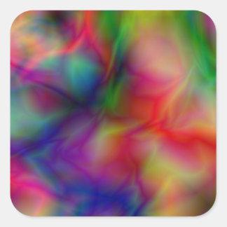 Psychedelic Graphic Square Sticker