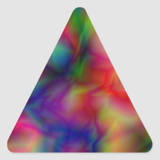 Psychedelic Graphic Triangle Sticker