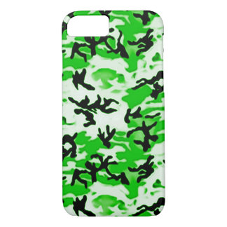 Psychedelic Green Camo iPhone 7 Case
