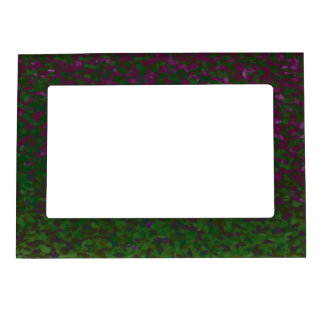 Psychedelic Green Pink Abstract Magnetic Picture Frame