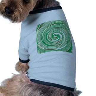 Psychedelic green pinwheel design dog tee