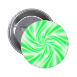 Psychedelic Green Swirl Pin