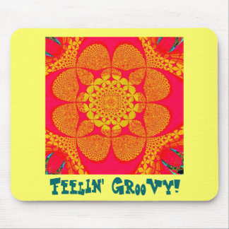 Psychedelic Groovy 5 Mouse Pad