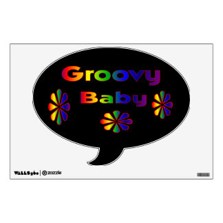 Psychedelic Groovy Baby Room Decal