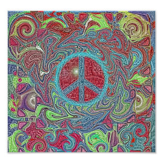 Psychedelic Groovy Trippy Peace Sign