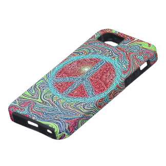 Psychedelic Groovy Trippy Peace Sign iPhone SE/5/5s Case