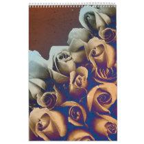 Psychedelic Grunge Roses Calendar