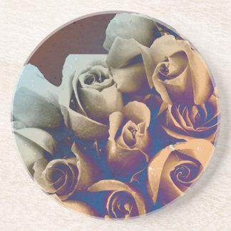 Psychedelic Grunge Roses Drink Coaster