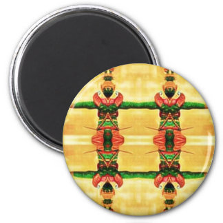 Psychedelic Guard Yellow Green Magnet