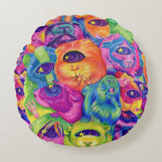 Psychedelic Guinea Pig Pile Pillow