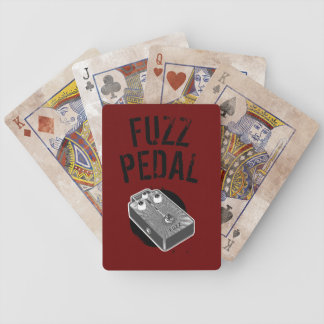 Psychedelic Guitar Fuzz Black & White Bicycle Playing Cards