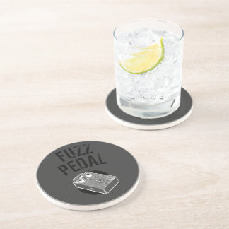 Psychedelic Guitar Fuzz Black & White Drink Coaster