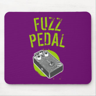Psychedelic Guitar Fuzz Black & White Mouse Pad