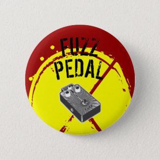 Psychedelic Guitar Fuzz Black & White Pinback Button