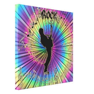 Psychedelic Guitar in a Tie-Dye Dream Canvas Gallery Wrapped Canvas