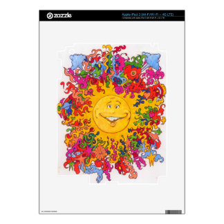 Psychedelic Happy Sun Decals For iPad 3