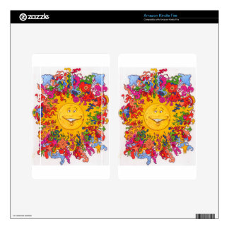 Psychedelic Happy Sun Kindle Fire Skin