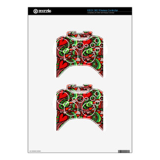 psychedelic hearts #2 xbox 360 controller skin