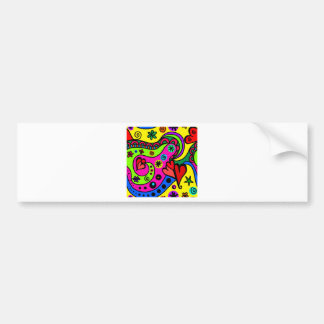 psychedelic hearts #3 bumper sticker