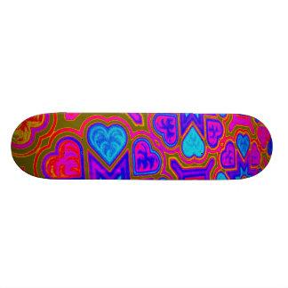 Psychedelic Hearts Skateboard