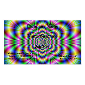 Psychedelic Hexagon Card Business Card