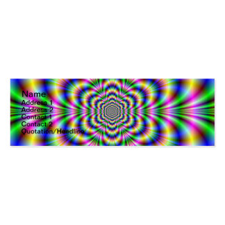 Psychedelic Hexagon Card Mini Business Card