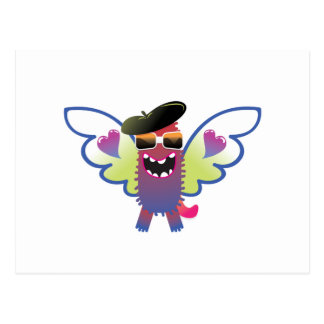 psychedelic hippie angel monster postcards