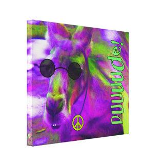 Psychedelic Hippie Peace Loving Kangaroo, Dude! Canvas Print