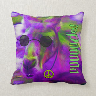 Psychedelic Hippie Peace Loving Kangaroo, Dude! Throw Pillow