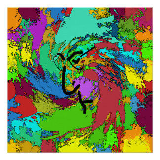 Psychedelic Hippie Poster