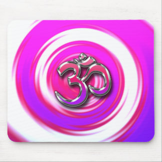 Psychedelic Hippie Style Yoga Symbol Mouse Pad
