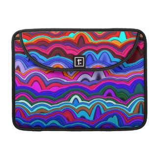 Psychedelic Hippy Blue Sleeve For MacBook Pro